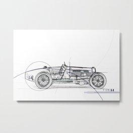 RennSport Speed Series: Type 51 Metal Print