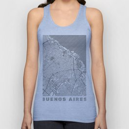 Buenos Aires Map Line Unisex Tank Top