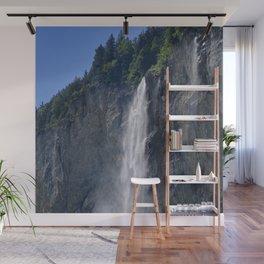 Lauterbrunnen Waterfalls. Alps. Switzerland Wall Mural