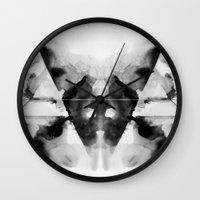 dark side Wall Clocks featuring Dark Side by Alexis Marcou