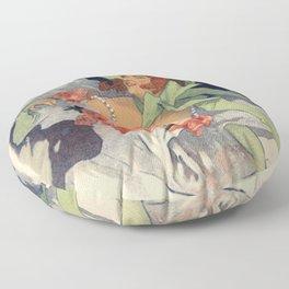 Alcazar D Te Lidia 1893 By Jules Cheret | Reproduction Art Nouveau Floor Pillow