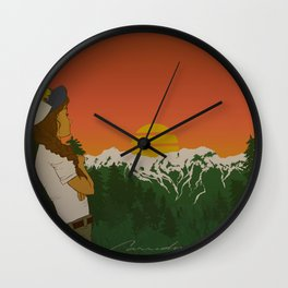 This is When Rocky Mountain Dreams Come True. Wall Clock