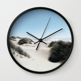 Dunes in Oregon Coast Wall Clock
