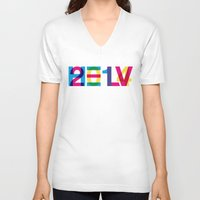 helvetica V-neck T-shirts featuring helvetica 2014 by Type & Junk