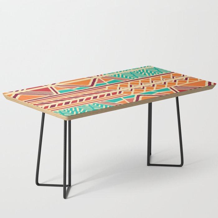 Tribal ethnic geometric pattern 027 Coffee Table