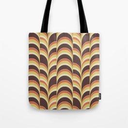 Retro 70's wave print Tote Bag