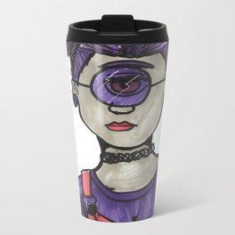 Grunge Cyclops Metal Travel Mug
