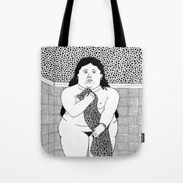 Botero - Woman in bath Tote Bag