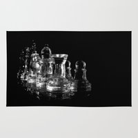 chess Area & Throw Rugs featuring CHESS by  Monochromania/Anne Seltmann