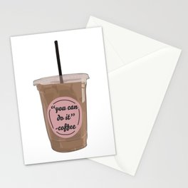 You Can Do It - Coffee Stationery Cards