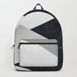 Geometrics - marble & silver Backpack