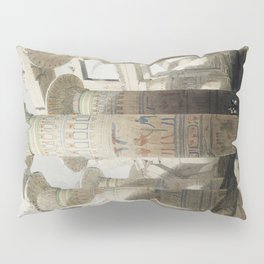 Karnac (Karnak) illustration by David Roberts (1796–1864)cc Pillow Sham