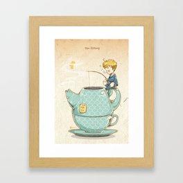 Tea Fishing Framed Art Print