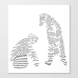 Polar Bears from Poetry Canvas Print