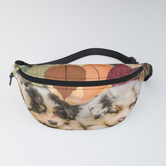 Puppy Love and Fall Leaves Fanny Pack