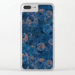 Ocean life in deep blue Clear iPhone Case
