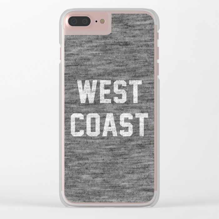 West Coast Clear iPhone Case