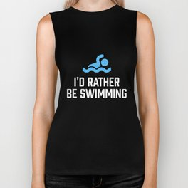I'd Rather Be Swimming Biker Tank