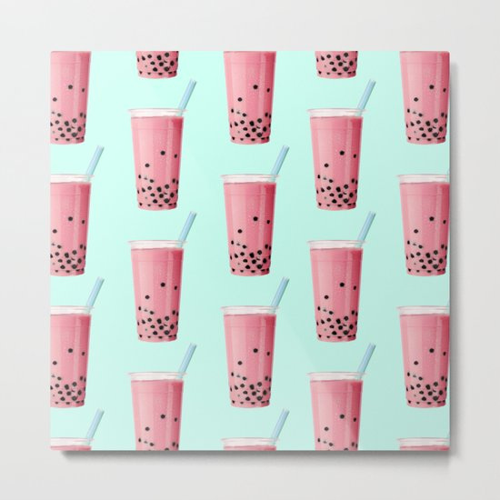 BUBBLE TEA Metal Print