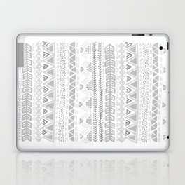 Grey aztec pattern Laptop & iPad Skin