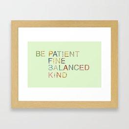 Skinny Love Quote Framed Art Print