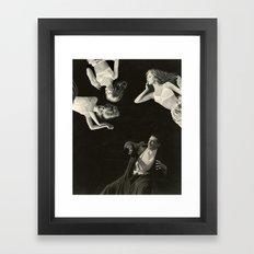 LIKE CHALK ON A BLACKBOARD Framed Art Print