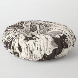 Entanglement (Untitled Face II) Floor Pillow