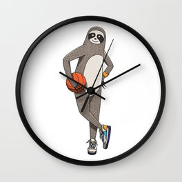 The sporty sloth Wall Clock
