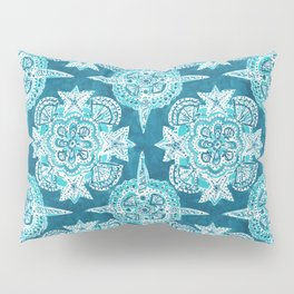 INNER MERMAID COMPASS Blue Nautical Mandala Pillow Sham
