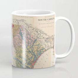 Vintage Geological Map of South Carolina (1883) Coffee Mug