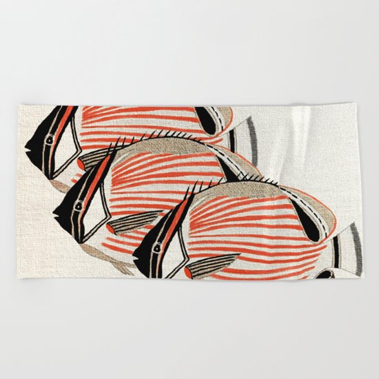 Fresh Fishes Beach Towel