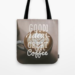 Coffee creates ideas Tote Bag