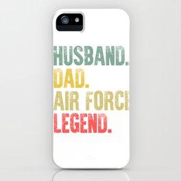 Funny Men Vintage T Shirt Husband Dad Air Force Legend Retro iPhone Case