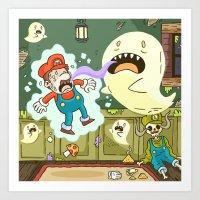 Super Mario Party Art Print