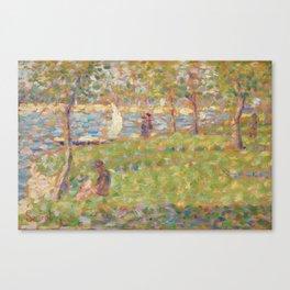 Georges Seurat - Study for La Grande Jatte Canvas Print