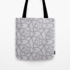 Silver gray lacey floral 2 Tote Bag
