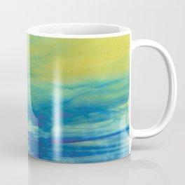 YELLOW & BLUE TOUCHING #1 #abstract #art #society6 Coffee Mug
