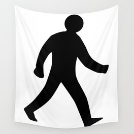 Walking Man Silhouette Wall Tapestry