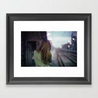 Girl in a Milano Night Framed Art Print