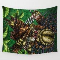 predator Wall Tapestries featuring PREDATOR  by Bungle