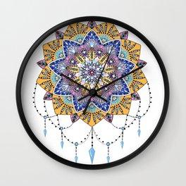 Mandala art,spiritual,colourful pattern  Wall Clock