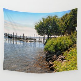 Susquehanna Shoreline, Maryland Shore, Coastal, Beach Art  Wall Tapestry