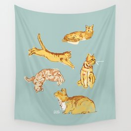 Various cats Wall Tapestry