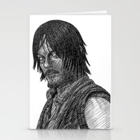 daryl dixon Stationery Cards featuring Daryl Dixon by Jack Kershaw