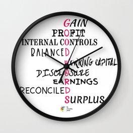 Good Accounting Words Wall Clock