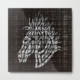 Industrial Stylized Horse Head Metal Print