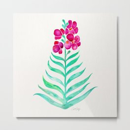 Blooming Orchid – Magenta & Mint Palette Metal Print