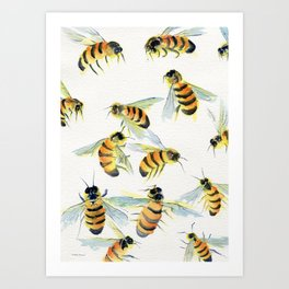 All About Bees Art Print