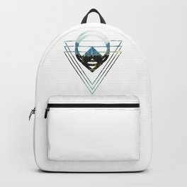 Mountain Lake Triangles Backpack