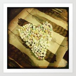 Candy Heart Art Print